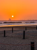 Beautiful sunset in Agadir, Morocco Stock Image
