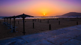 Beautiful sunset in Agadir, Morocco Stock Photography