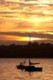 Beautiful sunset along the french coast Royalty Free Stock Photo