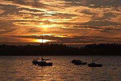 Beautiful sunset along the french coast Stock Image