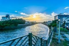 Free Beautiful Sunset And Street View In Kamakura Japan Stock Images - 125783304