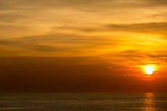 Beautiful Sunset. At Andaman sea Krabi Phiket Thailand Stock Images
