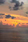 Beautiful sunset on Andaman Sea Royalty Free Stock Image