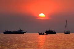 Beautiful sunset at Andaman sea, Thailand Stock Photo