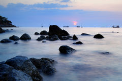 Beautiful sunset at Andaman sea, Thailand Royalty Free Stock Images