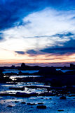 Beautiful sunset in Antarctica Stock Images