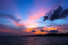 Beautiful sunset on the Asia sea Royalty Free Stock Image