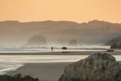 Beautiful Sunset At Cannon Beach, Oregon. Stock Photography