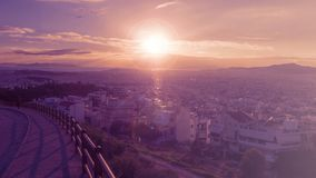 Beautiful sunset in Athens. royalty free stock photos