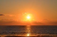 Beautiful sunset on the Atlantic Ocean,  Viana do Castelo, Portugal Stock Photo