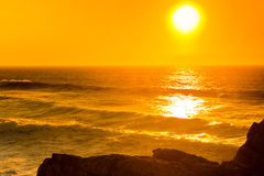 Beautiful sunset, Atlantic Ocean Stock Photo