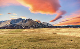 Beautiful sunset in autumn in Durmitor, Montenegro Stock Photo