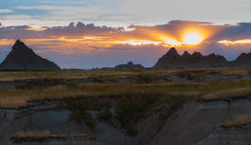 Beautiful Sunset Badlands National Park South Dakota Royalty Free Stock Images