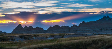Beautiful Sunset Badlands National Park South Dakota royalty free stock image