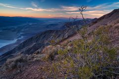 Badwater basin seen from Dante`s view, Death Valley, California, stock photos