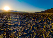 Beautiful sunset at Badwater Death Valley National Royalty Free Stock Photo