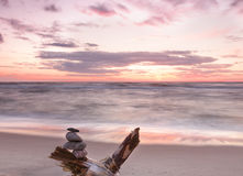 Beautiful sunset at Baltic sea. Royalty Free Stock Photos
