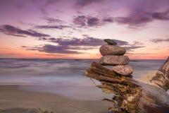 Beautiful sunset at Baltic sea. Stock Photos