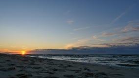 Beautiful sunset on the Baltic Sea stock video footage