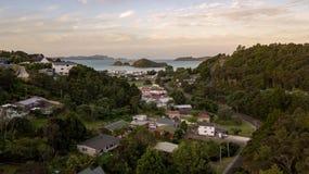 Small Neighborhood In Bay Of Islands stock images
