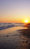 Beautiful sunset on the beach Stock Photo