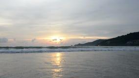 Beautiful sunset at the beach.  stock video