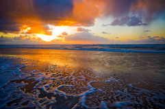 Beautiful sunset on the beach Royalty Free Stock Photo