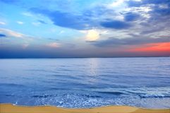 Beautiful sunset on the beach Stock Photos