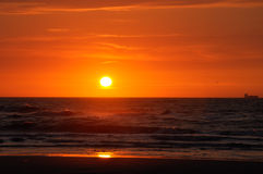 Beautiful Sunset. On the beach royalty free stock photography