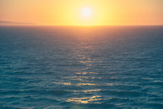 Beautiful sunset and beach background Stock Image