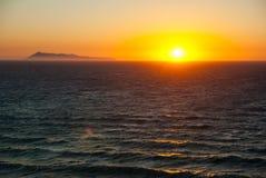 Beautiful sunset and beach background Stock Photography
