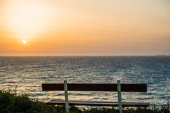 Beautiful sunset and beach background Stock Images
