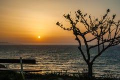 Beautiful sunset and beach background Stock Photo