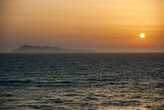 Beautiful sunset and beach background Royalty Free Stock Images