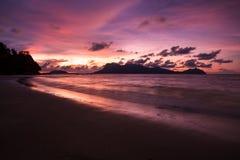 Beach sunset at Bako national park Borneo Royalty Free Stock Photos