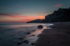 Beautiful sunset on the beach.  Stock Photography