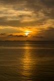 Beautiful sunset on the beach in island Koh Phangan, Thailand. Royalty Free Stock Photos
