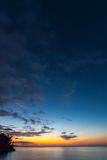 Beautiful sunset at the beach Royalty Free Stock Photos