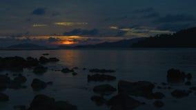 Beautiful sunset on the beach. Beautiful sunset on the beach of Lipeh island,Thailand stock video