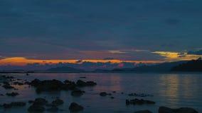 Beautiful sunset on the beach. Beautiful sunset on the beach of Lipeh Island,Thailand stock footage