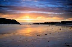 Beautiful sunset at beach Stock Photo