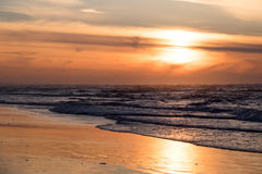 A beautiful sunset at the beach Stock Images