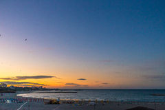 Beautiful sunset on the beach. Outdoor shot with natural light Stock Image