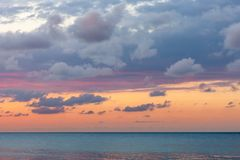 Beautiful sunset at the beach Stock Images