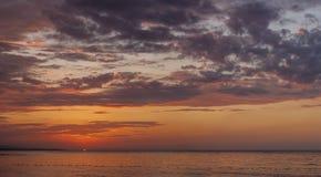 Beautiful sunset at the beach Stock Image
