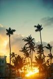 Beautiful sunset at a beach resort Stock Image