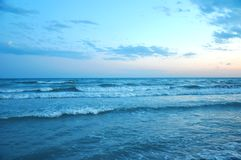 Beautiful sunset on the beach Royalty Free Stock Photography