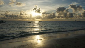 Beautiful sunset in the beach Stock Photography