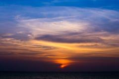Beautiful sunset on the beach Stock Image