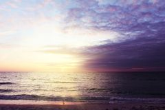 Beautiful sunset at Beach of South Venice. Florida. Natural background Stock Photography
